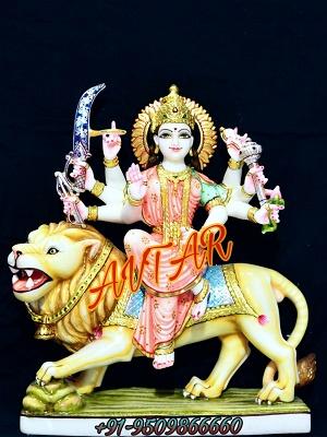 849b923b528 Durga Mata Marble Statue Manufacturer-Exporter-Supplier - Ambe Maa ...